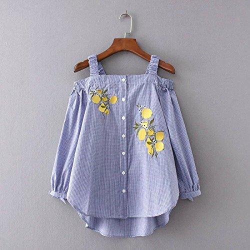 yls-limoni-di-manica-lunga-t-shirt-blu-piccolo-un-collo-cinturino-senza-spalline-maniche-lunghe-cami