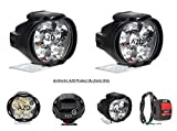 #4: A2D L3C 6 LED Transformer Bumble Bee Style Bike Fog Light Lamp Assembly White Mini with Switch Set of 2-Mahindra Duro 125
