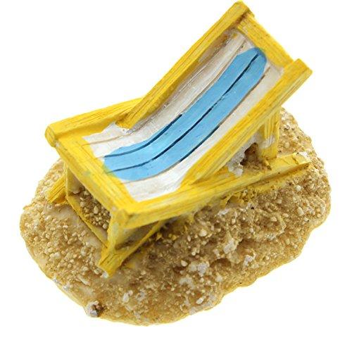 Chaises Longues de Soleil Miniature Paysage Décor Piscine