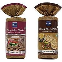 HAIM Organic Wholegrain Brown Rice Cakes with Himalayan Salt & Black Pepper (Pack of 2)