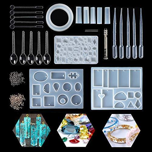 likonform Kit Resin Mold Harz Form für Schmuckherstellung Anhänger Halskette Ohrringe Dekoration Schmuckständer DIY, über 70 verschiedenen Muster, inkl. Werkzeug Zubehör ()