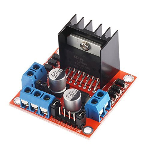 Solu Dual H Bridge DC Stepper Motor Drive Controller Board Module L298N for Arduino//L298N Motor Drive Controller Board DC Dual H-Bridge Robot Stepper Motor Control & Drives Module for Arduino Smart Car Power UNO MEGA R3 Mega2560 by Solu