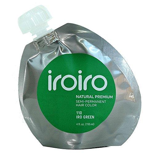 Iroiro Premium Natural Semi-permanenten Haar Farbe 110Iro-greend 4Oz (Cotton Candy Fuchsia)