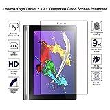 fiimi Protection d'écran en verre trempé pour Lenovo Yoga Tablette 225,7cm, dureté 9h, épaisseur de 0,3mm, fabriqué à partir de verre véritable  - YOGA Tab 2 10.1