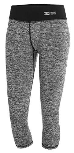 FITTECH GYM Damen Thermoaktiv Legging Leggins Strumpfhose Tights Laufhose Caprihose 3/4 Leggings Fitness Yoga Pilates Outdoor Radsport...