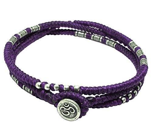 lun-na-asiatique-100-fait-main-wrap-bracelet-argent-925-perles-de-plumes-pourpre-ficelle-de-cire-bou