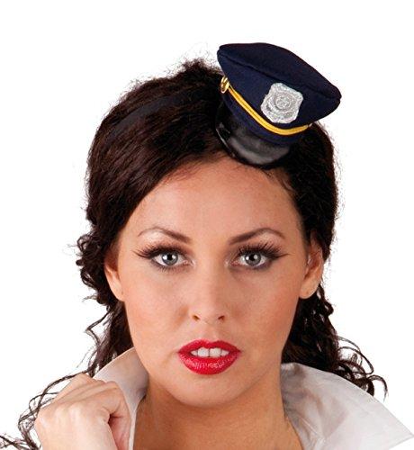 Boland 76305 Mini-Polizeihut, One Size (Make-up Swat Kostüm Halloween)