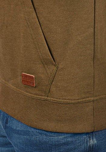 BLEND 703585ME Sales Herren Kapuzenpullover Hoodie Sweatshirt mit Kapuze und optionalem Teddy-Futter sowie Crossover-Kragen aus hochwertiger Baumwollmischung Meliert Dark Mustard (75116)