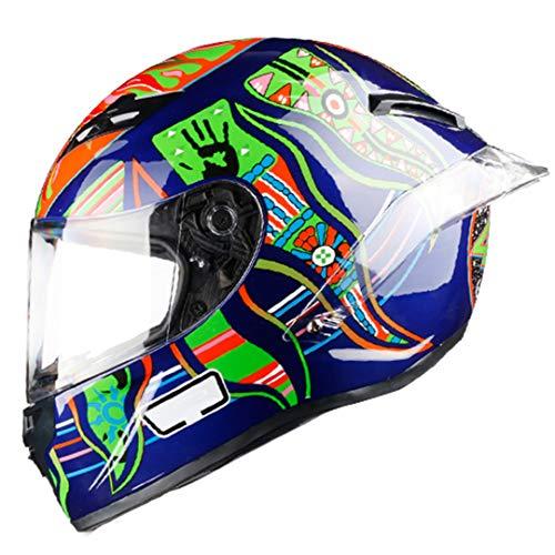 KeRuiLou Casco Moto Full Face off Raod Motocross per Le Corse 4 XXL