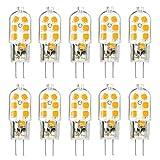 KINGSO 10 PackG4 LED Leuchtmittel Warmweiß 3W led Stiftsockellampe kleine Glühlampe led leuchtmittel sockel Beleuchtung Mais Leuchtmittel SMD 2835 Leds Licht nicht dimmbar