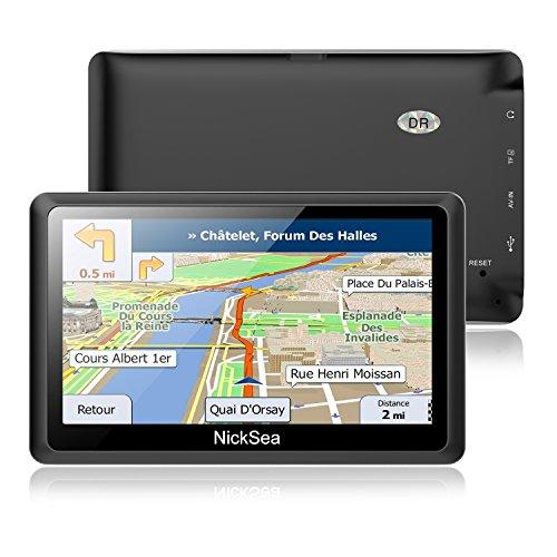 5' GPS Automatique de Voiture Moto 8GB, NickSea Appareil de Navigation Écran Tactile, Intégrer Le Système des Instructions Vocales, Système de Navigation avec Multi-Langues Gratuites Cartes