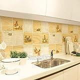 HhGold Öl-Proof Aufkleber, feuerfeste Wasserdichte küche haube Aufkleber aluminiumfolie hochtemperatur wandaufkleber Fliesen Aufkleber-F 42x70 cm (17x28 Zoll) (Farbe : D, Größe : 42x70cm(17x28inch))