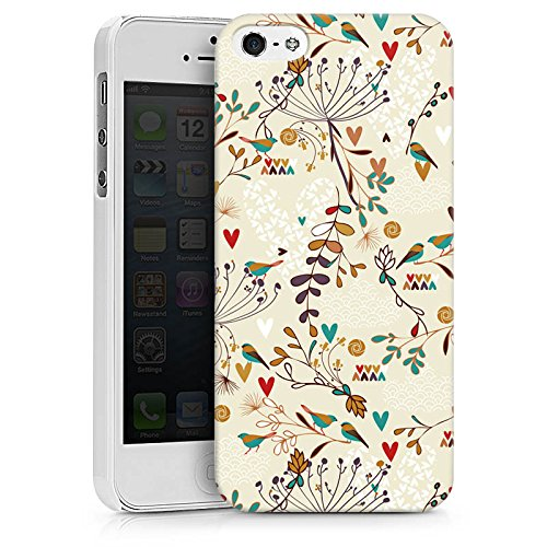 Apple iPhone X Silikon Hülle Case Schutzhülle Flower Retro Vögel Hard Case weiß