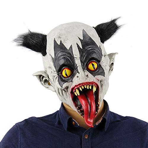 Variation Fledermaus Clown Maske Horror Perücke Maske beängstigend Latex Clown Männer Cosplay Kostüm dekorative Requisiten schelmischen Spielzeug Augenmaske