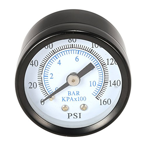 KKmoon 40 mm 0~200 psi 0~14 bares piscina filtro de presión de agua Dial