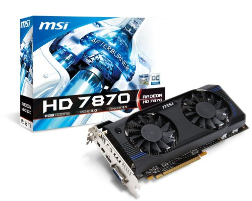 MSI AMD Radeon HD 7870, 2GB GDDR5, PCI Express 3.0 Graphics Card R7870-2GD5T/OC  available at amazon for Rs.37629