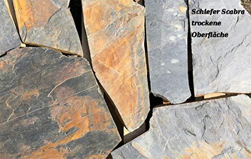 """Natursteinplatten Polygonalplatten Schiefer\""""Scabra\"""" 5m² auf Palette"""