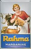 Blechschild Nostalgieschild Rama Rahma Margarine Milch Kuh Milchkuh Schild retro Reklame Werbeschild