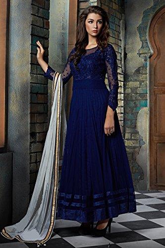 Special Mega Sale Festival Offer C&H Blue Designer Semi-Stitched Anarkali Suits