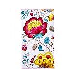 PiP Studio 260256202002 Floral Fantasy Handtuch aus Baumwolle, Weiß, 70x 140cm