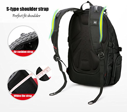 40L Zaino Unisex Zaino Pratico Daypack Per Viaggi E Sport All'aperto Durevole E Impermeabile Black