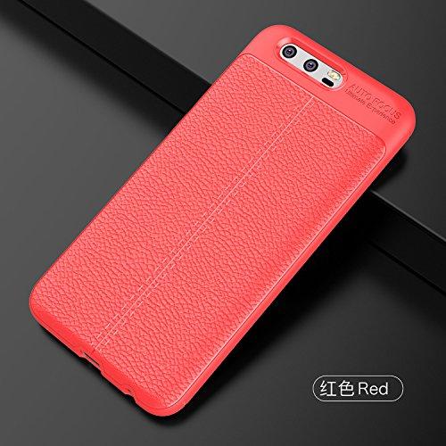 b8faa41b2aca Coque Huawei Honor 9,Coque de protection en cuir,Mince Lisse Protection  Complète,Coque de protection antidérapante et anti-empreinte digitale pour  ...