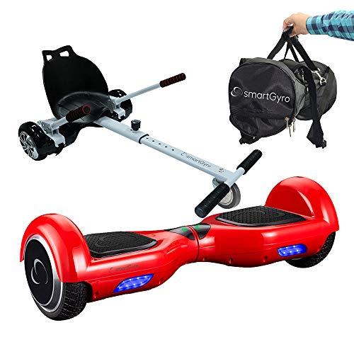 Pack Hoverboard SmartGyro X1s Red + Go Kart + Bolsa de Transporte - Ruedas 6.5