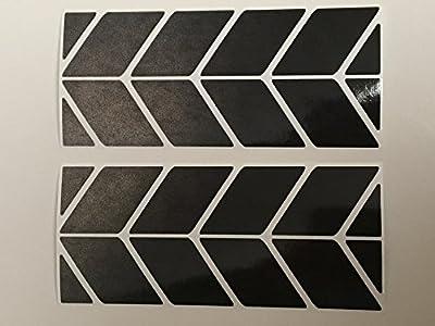 Aufkleber Set24 aus Reflexfolie 3M Scotchlite schwarz