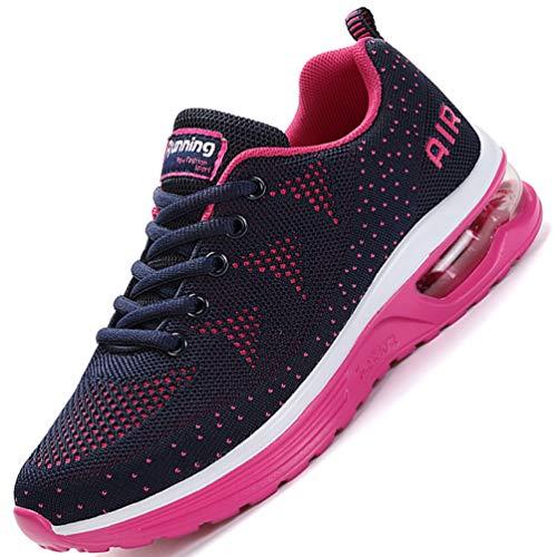 Flarut Unisex Uomo Scarpe da Ginnastica Corsa Sportive Fitness Donna Running Sneakers Basse Interior Air Casual all'Aperto(Rosa,36)