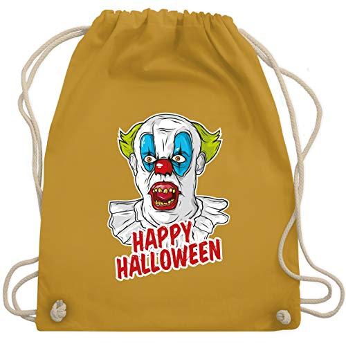 Halloween - Happy Halloween - Clown - Unisize - Senfgelb - WM110 - Turnbeutel & Gym Bag (2019 Halloween-kostüme Ideen, Gruppe)