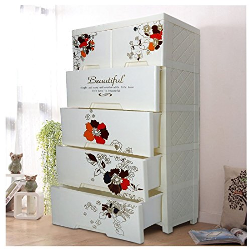 Kleiderschrank,World 9.99 Mall Kinder Kleiderschrank Schrank Portable mit 4 Schubladen und 2 Schränke Schrank (mit Griff) (Stil 2)