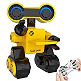 RC Robot Toy per bambini, Robot Touch Remoto e Controllo Vocale Fornire Lezioni di Scienze per Bambini, Robot Programmabile Intelligente con Funzione di Danza, Canto, Camminata, Occhi a Led (Giallo)