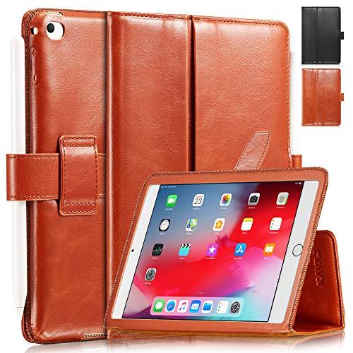 KAVAJ Lederhülle London geeignet für Apple iPad Mini 5 (2019) & 4 Hülle Echtleder Case Cognac-Braun aus echtem Leder mit Stand und Auto Schlaf/Aufwachen Funktion. Dünnes Smart-Cover Schutzhülle 5 Mini Ipod Case