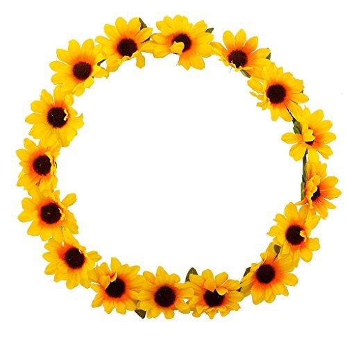 LUX Zubehör Sonnenblume Blumen gelb Head Hair Krone (Blume Krone Sonnenblume)