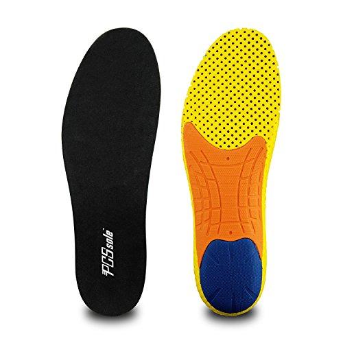 PCSsole PCSsole Plantillas para Zapatos de Gel Amortiguadoras, Plantillas para Deportivas de Silicona para Hombre y Mujer, para Fascitis Plantar,Tamaño Cortable (EU40-46)