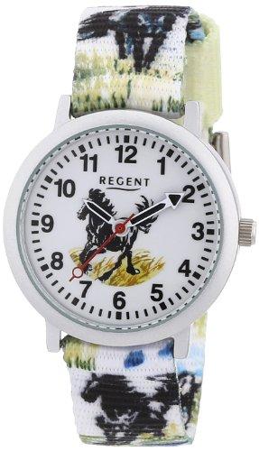 Regent 12400192 - Reloj unisex de cuarzo, correa de textil color varios colores