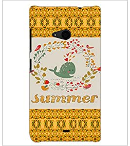 PrintDhaba Cartoon D-5027 Back Case Cover for MICROSOFT LUMIA 535 (Multi-Coloured)