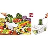 Affettatutto automatico affetta taglia trita verdura frutta ortaggi per fantastiche pietanze robot da cucina.