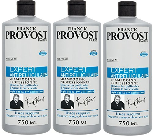 Franck Provost - Expert Antipelliculaire Shampooing Professionnel - 750 ml - Lot de 3