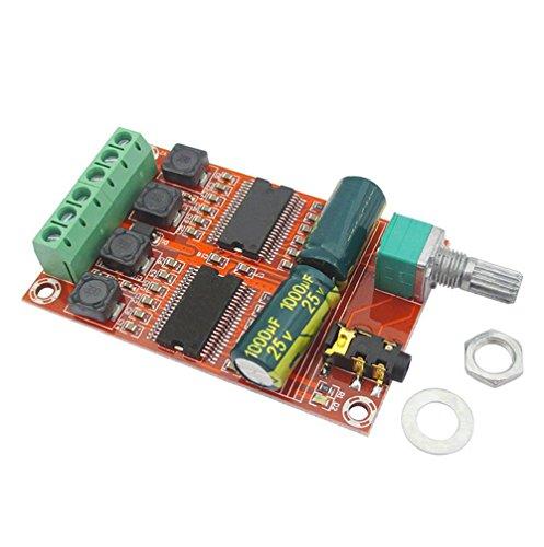 daorier Digital Stereo Audio Verstärker Amplifier Board Dual-Core Chip Class D DC12-24V 2* 20W Stereo A/v-kit