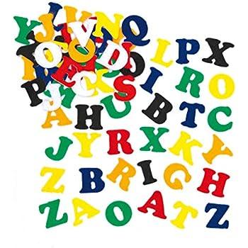 Filz Buchstaben lernen bunte Farben 8 cm 150 Stück NEU Schule Schultüte Kinder