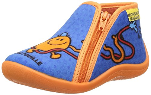 Be Only Monsieur Madame Mr Chatouille, Chaussons Montants Doublé Chaud Mixte Enfant Bleu