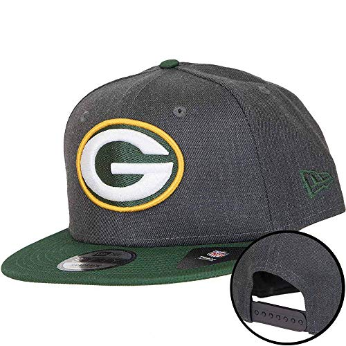New Era NFL Heather 9Fifty Snapback Cap Green Bay Packers Grau, Size:M/L