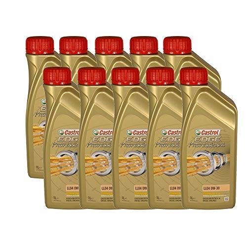 Castrol EDGE Professional Longlife 04 0W30 - Olio per Auto, Lubrificante a Lunga Durata Titanium 0W-30 10 Litri