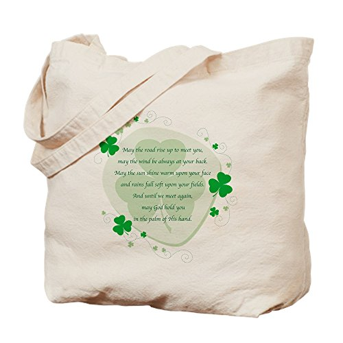 CafePress Irish Blessing Tragetasche, canvas, khaki, S - Vintage St Patricks Tag T-shirts