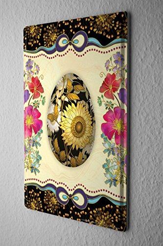 Cartello Targa In Metallo Fantasia Motivo Carte motivo dipinto uovo di Pasqua Decorative Piastra Insegna Metallica 20X30
