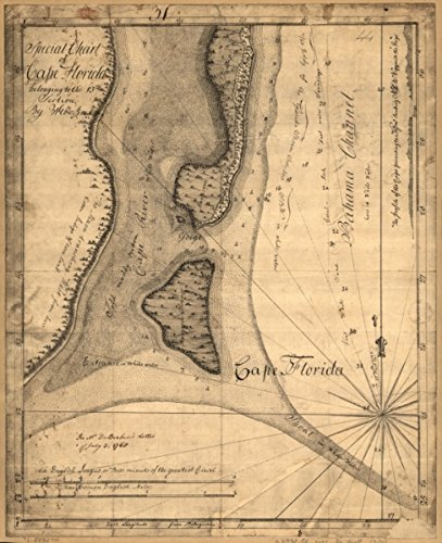 1765 Leech Shoal & Hillsborough River Charts of The Coast of Florida, 50,8 x 61 cm, Rahmen fertig Küsten-charts