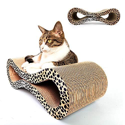 ETH Katzenkratzbrett 8 Form Wellpappe Katzenkratzbrett Klaue Spielzeug Bett Sofa Katze Kätzchen Scratcher Mehrere Kratzwinkel Klauen Pflege Spielzeug Geschmack -