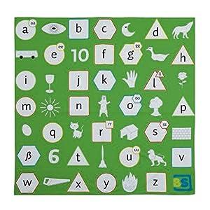 Buiten speel Alphabetic Picnic Juego (Verde/Blanco)