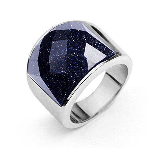 concise-fashionable-men-titanium-stainless-steel-ring-blue-sandstone-ring-9-internal-diameter-195mm